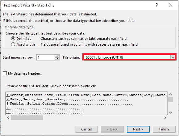 Handling Non-English Characters in CSV Files   StudioCloud Support